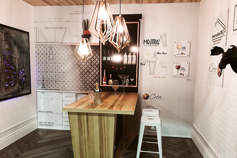 Sandra Lemay Designer d'intérieur - Murale Salon