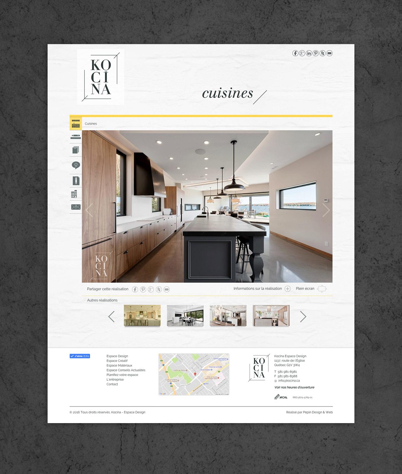 Köcina -site web